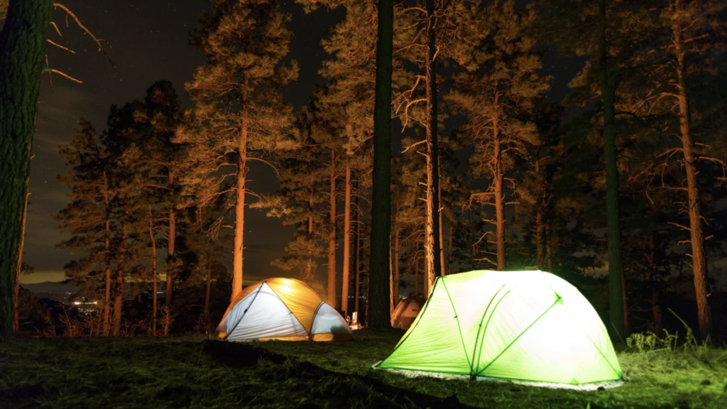 Tents in light